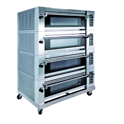 Luxury Type 4 Decks 8 Trays Electric Deck Oven