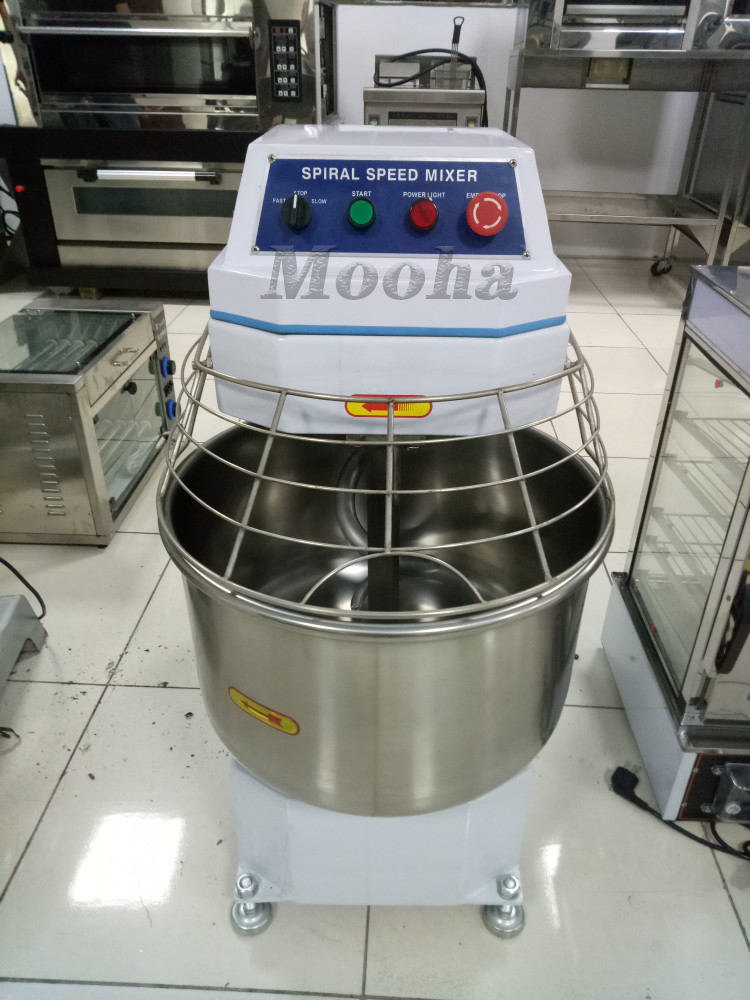 Commercial 48 Liters Double Speed Flour Kneading Equipment Bread Making Machine Bakery Equipment Spiral Dough Mixer
