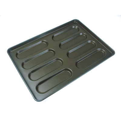Commerecial Hot Dog Roll Tray Biscuit Bakery Bun Accessories Baking Pan Bakery Tools Non Stick Baking Tray Aluminum Bread Bakeware