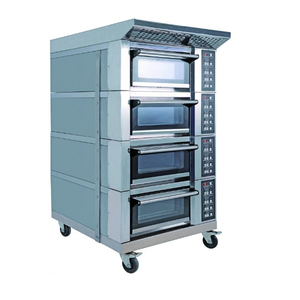 Luxury Type 4 Decks 4 Trays Electric Deck Oven