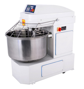 Commercial 122 Liters Spiral Dough Mixer 50KG Flour Kneading Machine Bread Toast Baguette Maker Snack Baking Machine Bakery Equipment Food Mixer