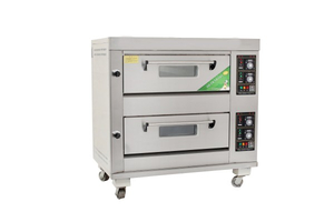Economic Type 2 Decks 4 Trays Gas Deck Oven