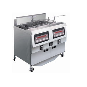OFG-322 Comptuer Panel Gas Double Tanks Open Fryer (Two Tanks Four Baskets)