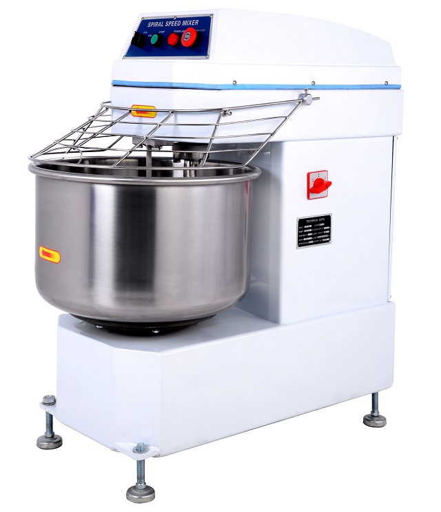 Commercial 34 Liters Spiral Dough Mixer 304 Stainless Steel Flour Kneading Equipment Bread Making Machine Bakery Equipment Dough Maker